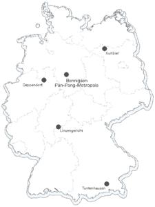 Pan-Pong-Standorte Deutschland